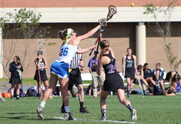 Sloane Sweitzer in action on the lacrosse field.