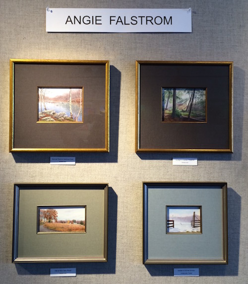 Works by Angie Falstrom of Lyme are on display at the Guilford Free Library.