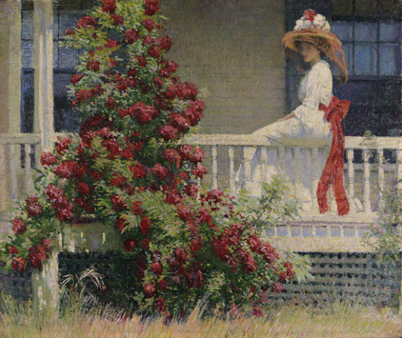 'Crimson Rambler' by Philip Leslie Hale is a signature paintings of the exhibition.