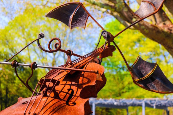 'Mephisto's Waltz'is an intriguing piece of kinetic sculpture.