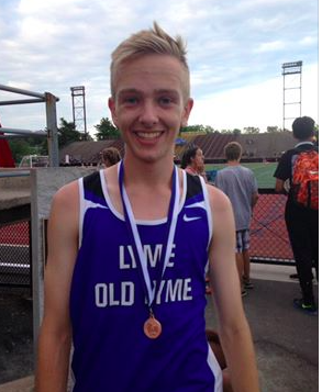 Danny Cole placed 3rd in the state 3,200 meter race. Photo by E. Cole.
