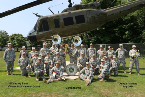 The 102nd Army Band of the CT National Guard will play at Sound View, July 28.