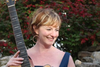 Connecticut State Troubador Kate Callahan gives a concert at Lyme Public Library Friday evening.