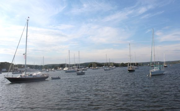 "View of the Connecticut River from the ""Victoria."""