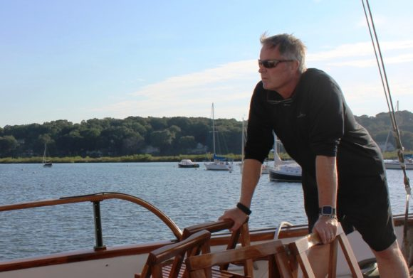 J.H. Torrance Downe, Deputy Director of River COG, takes in the view of the Connecticut River.