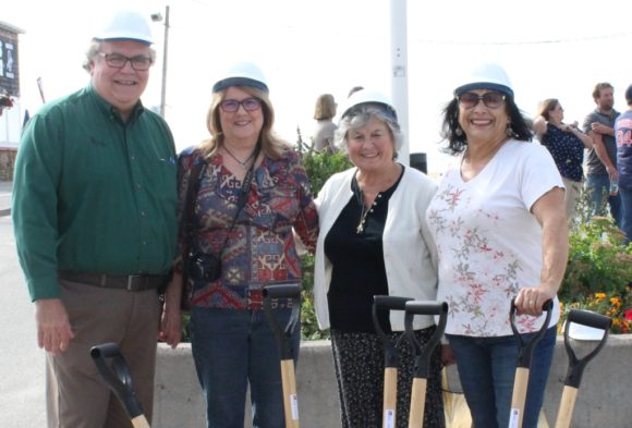 Sound View residents (from left to right) Frank and Patty Pappalardo, Shirley Annunziata and Joann Lishing are all smiles at the conclusion of the groundbreaking ceremony.