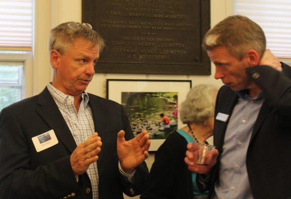 Selectman Arthur 'Skip' Sibley (left) makes a point.