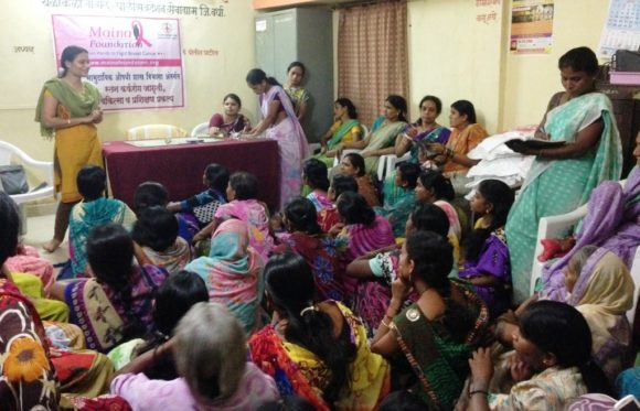 The Maina Foundation hosts breast cancer awareness classes in India.