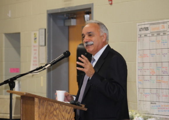 Dr. Manuel Rivera, Superintendent of New London Schools, was the keynote speaker at the Annual Meeting.
