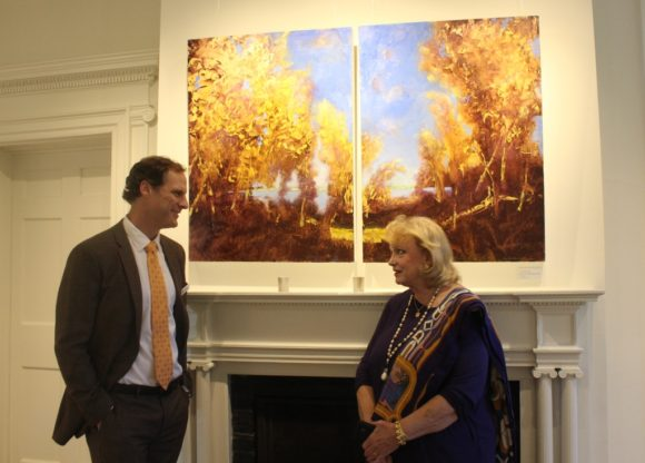 Lyme Academy College Campus Dean Todd Jokl chats with the artist.