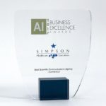 """Simpson Healthcare of Old Lyme Wins """"Best Scientific Communications Agency-CT"""" at 2017 Business Excellence Awards"""