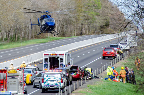 Lifestar Called to Accident on I-95 in Old Lyme
