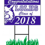 Lyme-Old Lyme HS Graduation is Tomorrow!  Celebrate a Senior … or the Whole Class of 2018 With a Lawn Sign