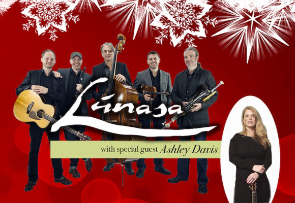 Lunasa and vocalist Ashley Davis will play traditional Irish holiday music, Dec. 13.