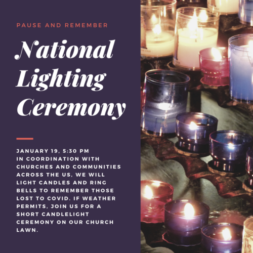 National Lighting Ceremony @ Lyme Congregational Church