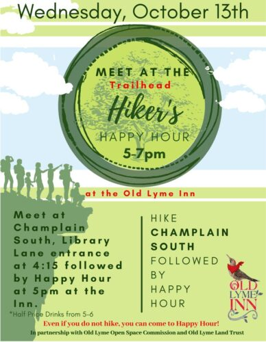 Champlain South Hike and/or Join 'Hiker's Happy Hour' @ Champlain South Trailhead/Old Lyme Inn